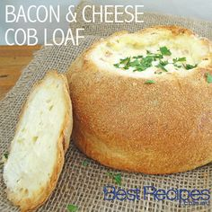 Bacon and cheese cob loaf. Perfect for #entertaining #dips #recipes