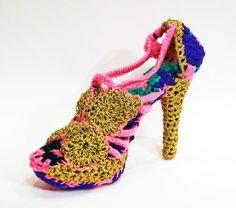 #Crochet #Art Shoe by Olek