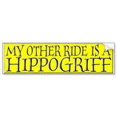 HIPPOGRIFF BUMPER STICKER from Zazzle.com