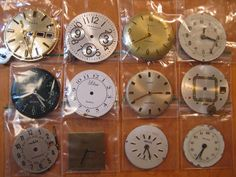 12 Vintage Wrist Watch Dials 23mm to 31mm including by HandzofTime