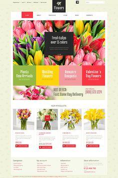 Template 51188 - Flower Online  Responsive WooCommerce  Theme