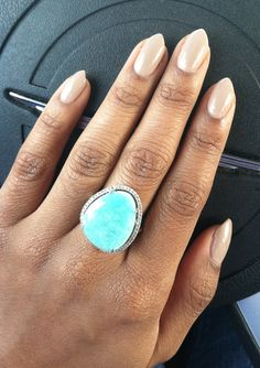 Natural Almond nail stiletto nails. Finally found the perfect neutral for olive skin! Revlon Elegant.