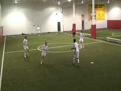 Soccer Drill: Passing Diamond Progression Two - YouTube