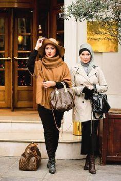 elegant hijab style, Elegant hijab street style http://www.justtrendygirls.com/elegant-hijab-street-styles/