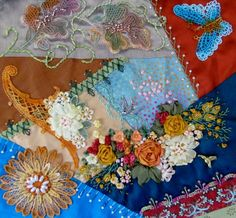 Crazy Quilting, Lace Dyeing, Vintage, Mixed Media, Gardening, Quilting