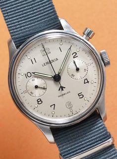Chronographe militaire Lemania cal.2220