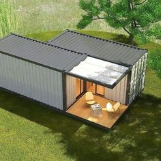 Source modular sea container house,customized ocean c - Tiny House Container Van, Sea Container Homes, Building A Container Home, Container Buildings, Container Architecture, Container Houses, Sustainable Architecture, Cargo Container, House Architecture