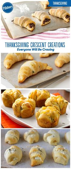 5 crazy-good ways to serve crescents this Thanksgiving! With Chive Crescents, Easy Cheesy Rosemary Crescents, Sausage Stuffed Crescents, Monkey Bread Rolls and Chocolate-Filled Crescents you're sure to find the perfect side for all your guests. Plus bread is always a crowd-pleaser at any Thanksgiving feast!