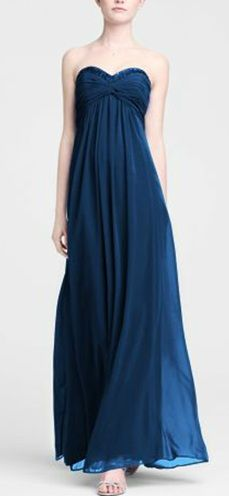 affc3552fe Davids Bridal- Marine Blue Bridesmaid dresses- love this one girls! This  would look