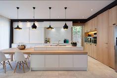 Home ~ Kwadraat Modern Kitchen Design, Interior Design Living Room, Kitchen Queen, Beautiful Kitchens, Home Renovation, Home Kitchens, Sweet Home, New Homes, Loft