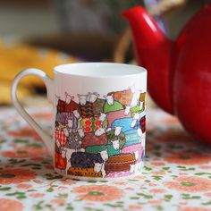 Time for tea with the colourful flock #timefortea