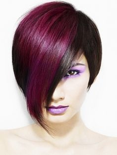 OOOHH this makes me wanna cut my  hair SO bad I love this and the color combination is so cool