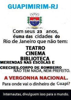GUAPIMIRIM REAGE BRASIL.: Atenção Brasil: os Srs(as) conhecem o Município de...