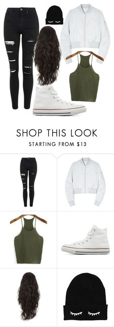 """""""Untitled #39"""" by perla-baranda ❤ liked on Polyvore featuring Topshop, Won Hundred, Converse, women's clothing, women's fashion, women, female, woman, misses and juniors"""
