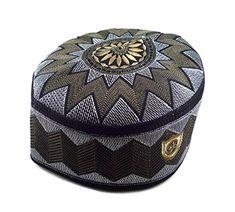 8c230bfabd307 Alwee ALW006 Muslim Prayer Headware Kufi Hat Men Islam Skull Cap Ramadan  Eid Gift (22 inch (56 cm.)