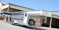 Several show trailers here on display at the 2017 Oklahoma Youth Expo, Oklahoma City!  CSTK Custom Trailers (800) 696-2989