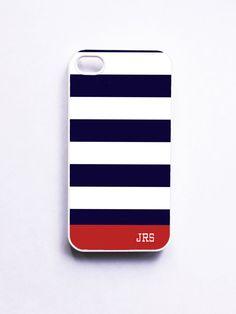 Nautical Strip iPhone case. onyourcasestore. Etsy