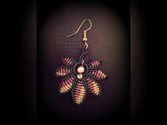 DIY:Leaf Earrings Tutorial フラワーリーフイヤリングの作り方 マクラメ編み - YouTube