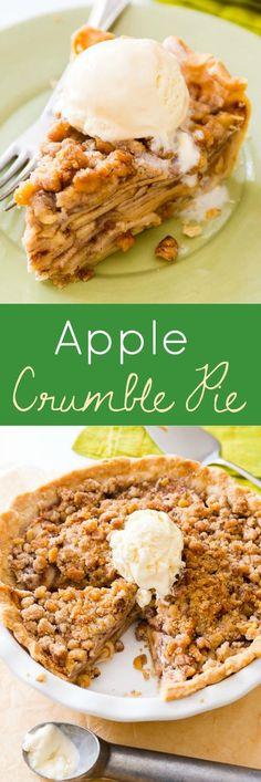 haven't had apple pie until you've had THIS Apple Crumble Pie! haven't had apple pie until you've had THIS Apple Crumble Pie! Just Desserts, Delicious Desserts, Yummy Food, Apple Desserts, Pie Dessert, Dessert Recipes, Drink Recipes, Apple Crumble Pie, Apple Crisp Pie