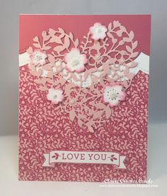 Welcome back to Sunday Stamps. This week it's all about the Sketch. Feel free to use any brand of product you have in your stash and y. Love Valentines, Valentine Day Cards, Bloomin Love Stampin Up, Book Markers, Love Stamps, Heart Cards, Card Tutorials, Scrapbook Cards, Scrapbooking