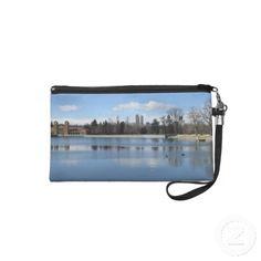 Denver City Park Lake Bagette Wristlet Purse click twice to purchase