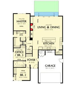 One Story Contemporary For A Small Lot - 69547AM | Contemporary, Cottage, Vacation, Narrow Lot, 1st Floor Master Suite, CAD Available, Den-Office-Library-Study, PDF | Architectural Designs