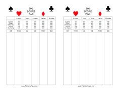 chicken foot score sheet pdf