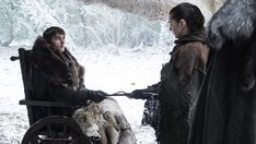 GoT - Bran Stark, Isaac Wright with Arya, giving her the knife on S7