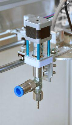printer design printer projects printer diy Cnc Cnc Print head - StoneFlower ceramic printer you can find similar pins below. Make 3d Printer, 3d Printer Models, 3d Printing Diy, Laser Printer, Diy Cnc Router, Cnc Lathe, Recycling Machines, Diy 3d, Cnc Milling Machine