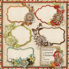 Shabtastic Digital Scrapbook Kit Journal by JssScrapBoutique, $2.99