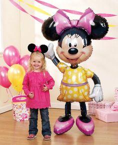 "Amazon.com: Minnie Mouse Airwalker 54"" Jumbo Foil Balloon: Toys & Games"