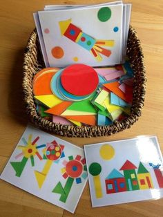 Teaching shapes to kindergarten is part of many standards based curriculums. I wanted to share creative ways for teaching shapes in kindergarten. 2d Shapes Activities, Teaching Shapes, Toddler Activities, Preschool Activities, Toddler Fun, Preschool Shapes, Dinosaur Activities, Writing Activities, 2d Shape Games