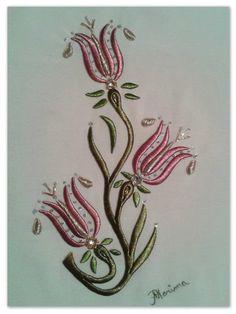Ilk lalem :) my first flowers #goldenemroidery #simsırma #maraşişi