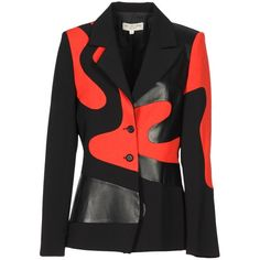 JUST CAVALLI Blazer ($430) ❤ liked on Polyvore featuring outerwear, jackets, blazers and blazer jacket