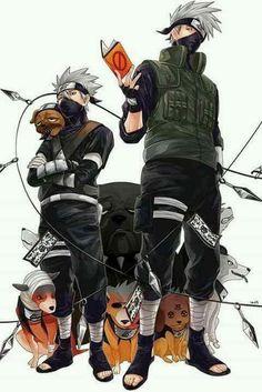 Kakashi Hatake and his Dogs Wallpaper ♥♥♥