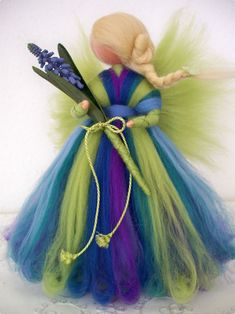 кукла из шерсти, натуральные игрушки, шерстяные игрушки, валяние, woolentoy, handmadedoll, doll Wool Dolls, Felt Dolls, Needle Felted Animals, Felt Animals, Wet Felting, Needle Felting, Felt Angel, Felt Fairy, Fairy Garden Accessories