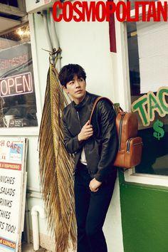 Lee Sang Yoon in Cosmopolitan Korea January 2016 Look 3 Lee Sang Yoon, Lee Sung, Ideal Man, Learn Korean, I Hate You, Angel Eyes, Dimples, Korean Singer, Korean Actors