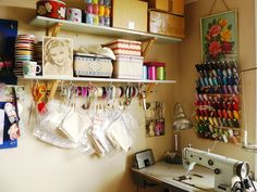 this is a corner of my workroom.  How many hours have I spent here....