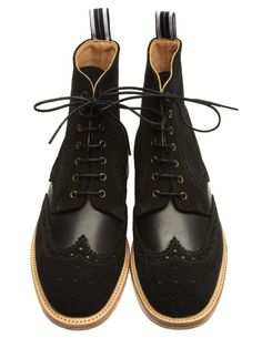 Oliver Spencer Autumn/Winter 2012 Brogue: A British Styled Classic Brogue With Heritage Suede Detail For Modern Men