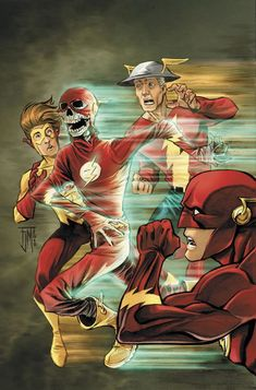 The Flash family by Francis Manapul