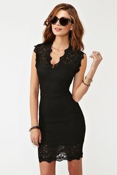 perfect little black lace dress.