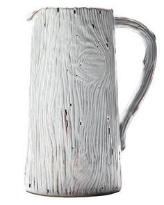 Wood Grain earthenware pitcher from Terrain
