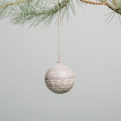 DIY this? First Snowfall Ornament Contemporary Christmas Ornaments, Modern Christmas, Christmas 2017, Gold Ornaments, Hand Painted Ornaments, Christmas Baubles, Christmas Decorations, One Tree, How To Make Ornaments