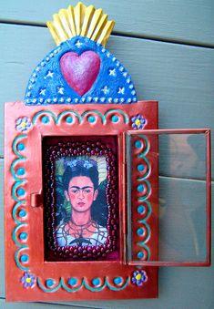 Frida Kahlo Nicho Shrine Day of the Dead Mexican par LifeweaverLLC
