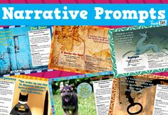 The 'Narrative Writing Prompts' have been created in a NAPLAN style of narrative prompt, to provide practise in interpreting and creating texts in the same conditions as the standardised testing environment. Teacher Resources, Classroom Resources, Teaching Ideas, Narrative Writing Prompts, English Units, Writers Notebook, Story Starters, Classroom Games, English Classroom