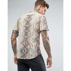 3e2ec3ddd117 Reclaimed Vintage Inspired Lace Shirt With Short Sleeves In Reg Fit -