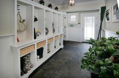 55 Absolutely Fantastic Mudroom Entry Design And Style Ideas Foyer Design, Entry Way Design, House Design, Wall Design, Entryway Flooring, Slate Flooring, Slate Tiles, Concrete Floors, Farmhouse Remodel