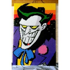 The Joker - Batman perler bead art by prispressarkonst