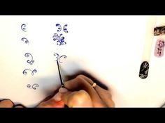 Лилия на ногтяхВензеля и ТОНКИЕ линииНежный дизайнПРОСТОЙ дизайн ногтей - YouTube