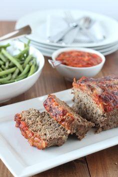 Italian Meatloaf with Marinara Parmesan Crust